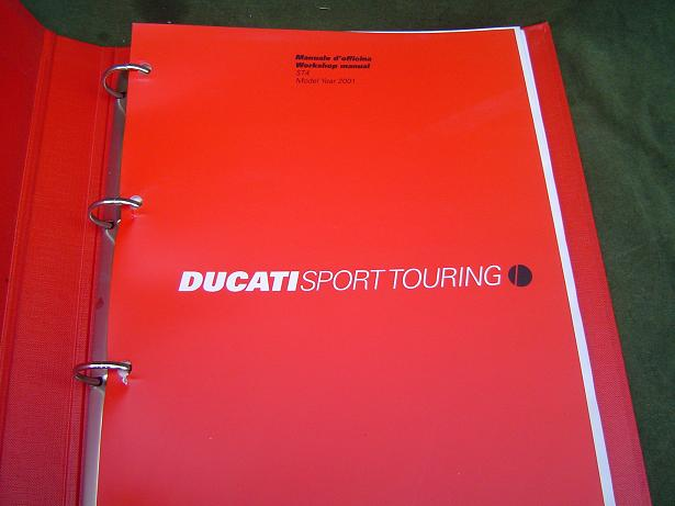 DUCATI ST4  916 cc 2001 sporttouring  workshop manual