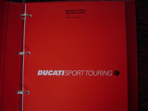 DUCATI  ST4 2002 workshop manual Sport Touring manuale d'officina  werkplaatshandboek