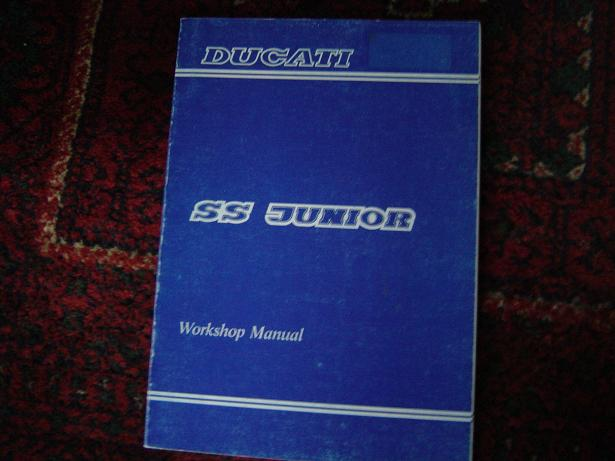 DUCATI  SS JUNIOR 1990 workshop manual  398 cc
