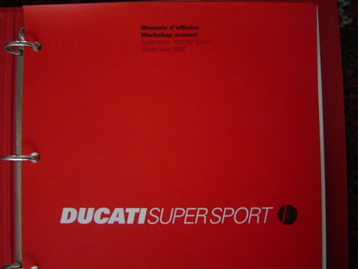 DUCATI SS 750  supersport , sport 2002 workshop manual  ss750