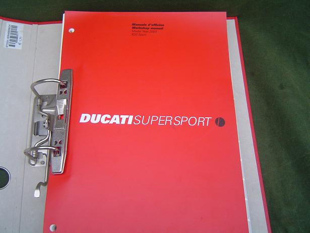 DUCATI 620 sport 2003 workshop manual