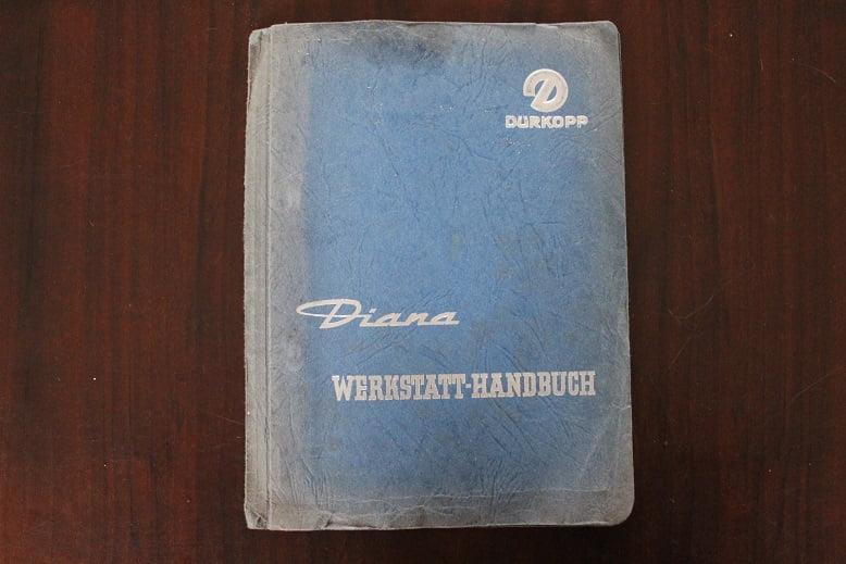 DÜRKOPP DIANA  werkstatt-handbuch  werkplaatsboek manual