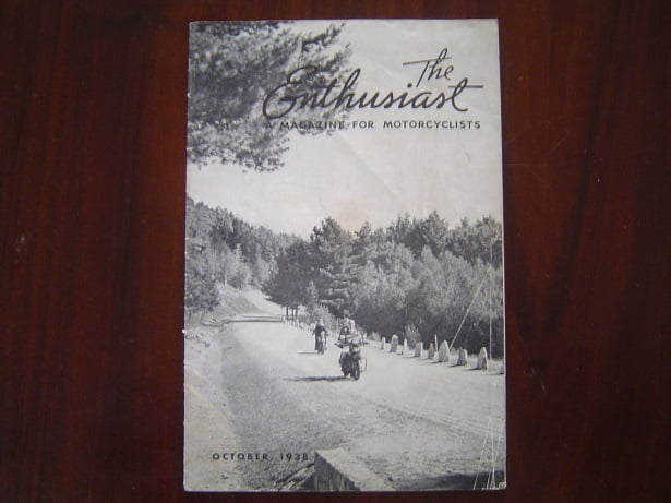 The Enthusiast a magazine for motorcycles october 1938 Harley Davidson