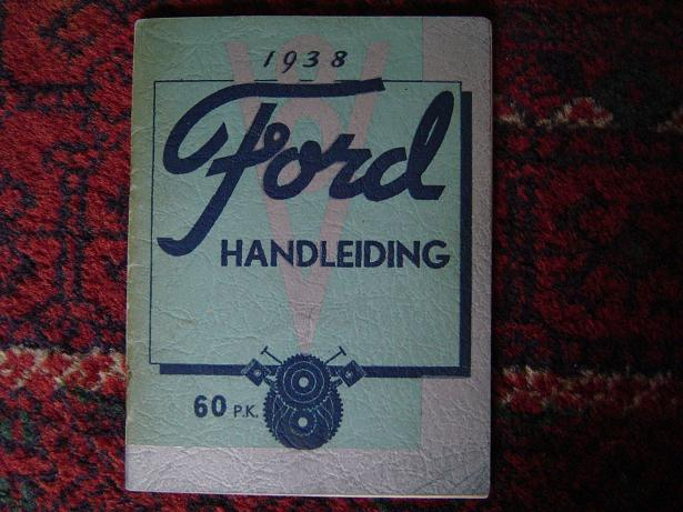 FORD  1938 V 8 handleiding 60 pk