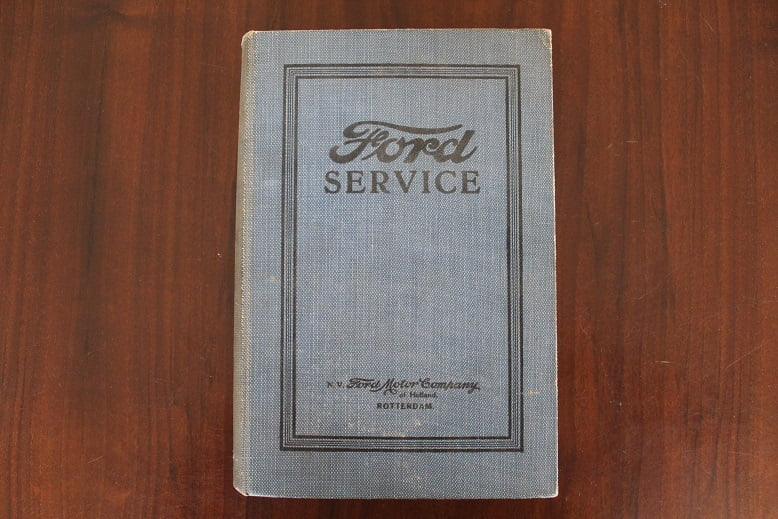 FORD SERVICE 1926  N.V. Ford Motor Company Rotterdam werkplaatsboek