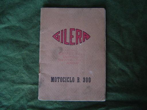 GILERA  B 300  1955 motociclo istruzioni owner's manual