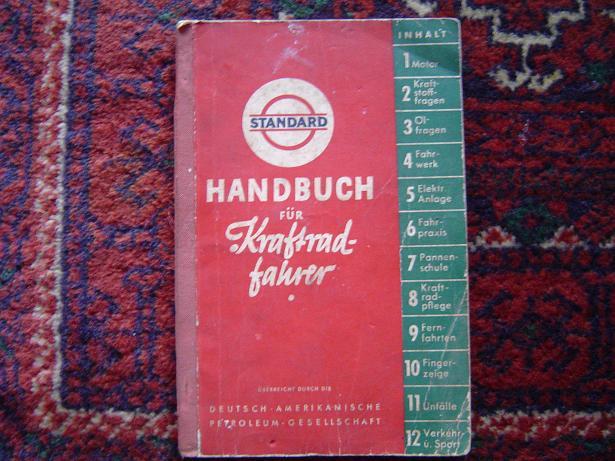 handbuch fur KRAFTRAD  fahrer 1937  STANDARD  ESSO