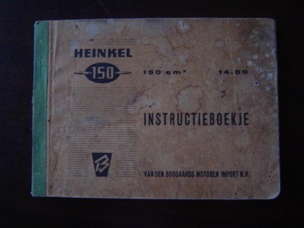 HEINKEL  150 cc   14.00 instruktie boekje