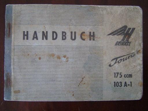 HEINKEL  Tourist 175 cc  103 A – 1  1960 handbuch handleiding