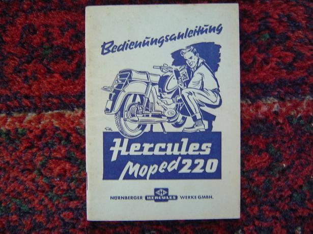 HERCULES 220 moped  betriebsanleitung