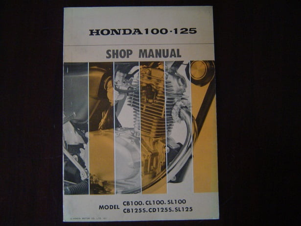 HONDA CB CL SL 100 CB CD SL 125 1971 shop manual CB100 CB125
