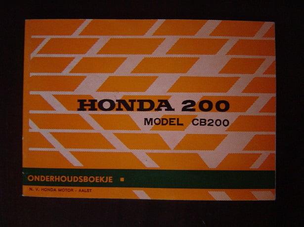HONDA CB 200 1974 onderhoudsboekje  CB200