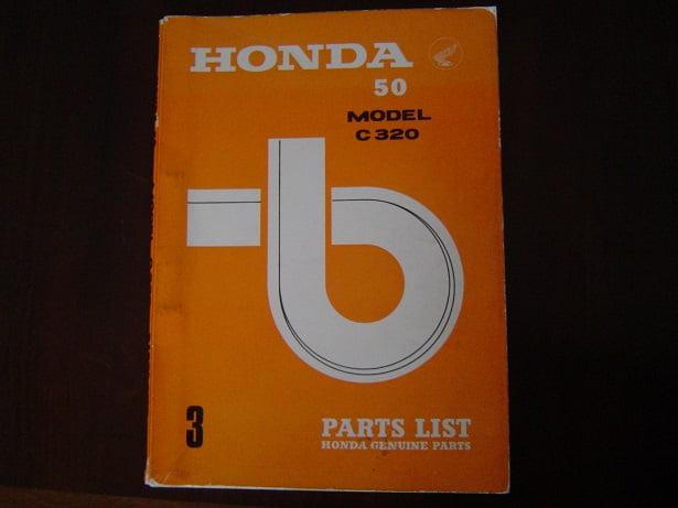 HONDA 50 C320  1965 parts list C 320 onderdelen boekje
