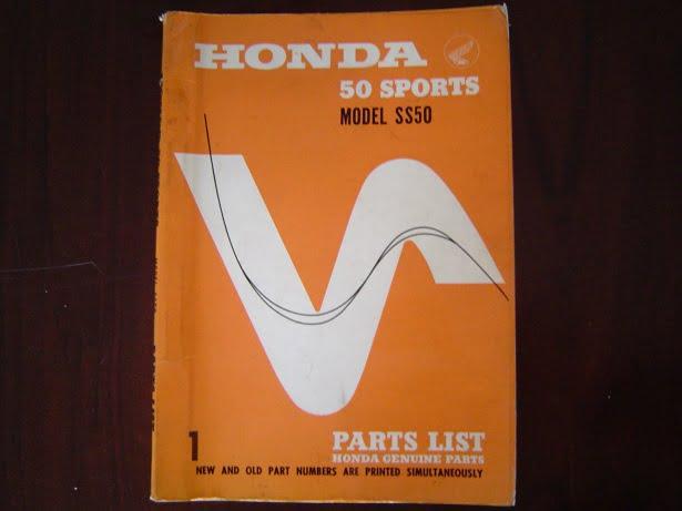 HONDA 50 Sports SS50 parts list  SS 50