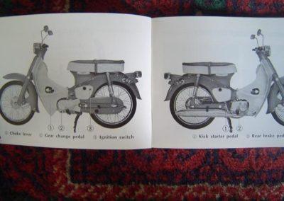 1973 c65 wiring diagram honda c 50 c65 owners manual 1973 | simons old motorcycle parts #12