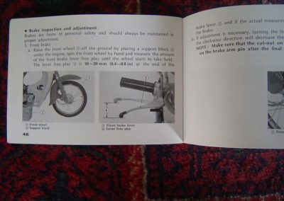 honda c 50 c65 owners manual 1973 | simons old motorcycle parts 1973 c65 wiring diagram #10