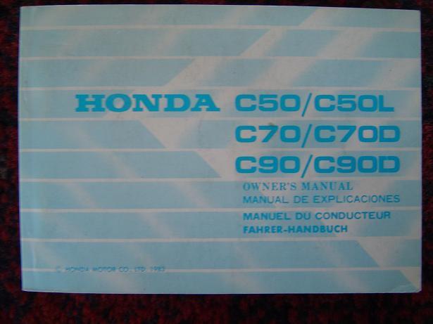 HONDA C50 , C60 , C70 1983 owner's manual