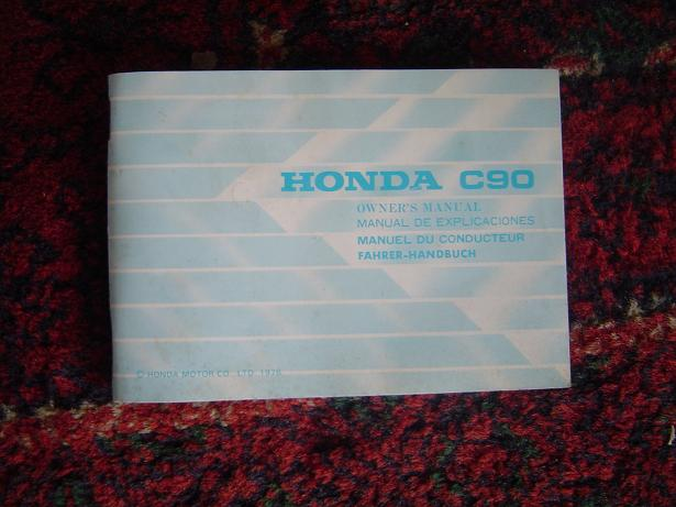HONDA C 90 1978 owner's manual