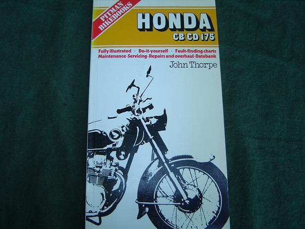 HONDA CB /CD 175  1976  maintenance / overhaul by John Thorpe Pitman bikebooks