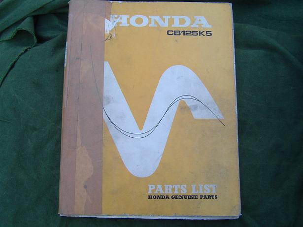 HONDA CB 125 K5  1972   CB125K5 parts list