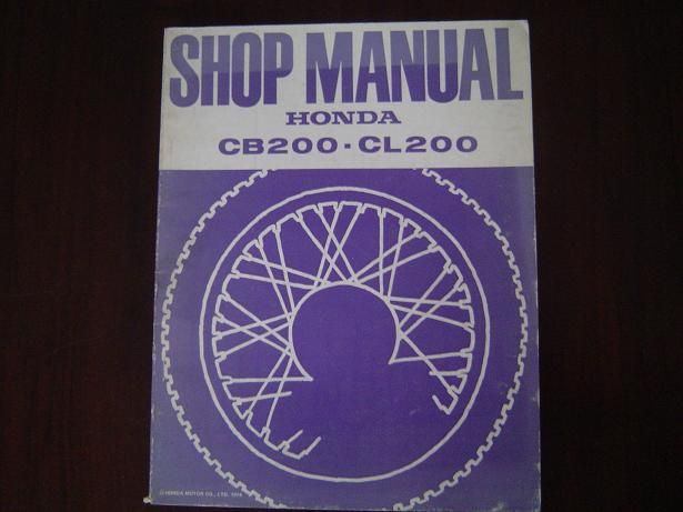HONDA CB200 CL200 1974 shop manual CB 200 CL 200 werkplaatboek
