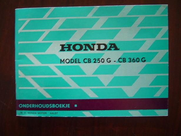 HONDA CB 250 G en CB 360 G 1974 instruktie boekje  CB250 CB360