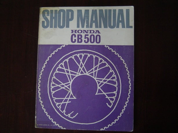 Honda Cb500 1972 Shop Manual Cb 500 Werkplaatsboek