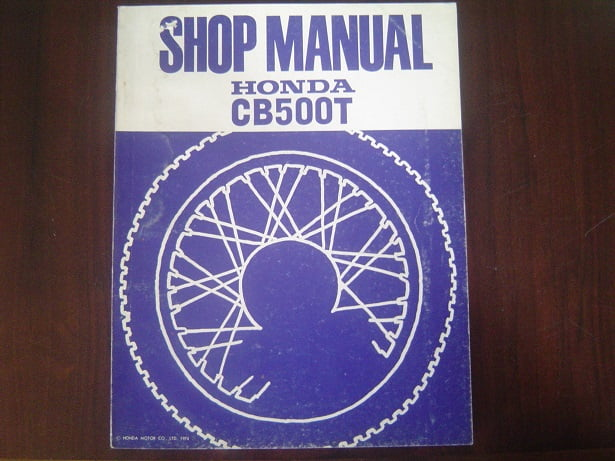 HONDA CB500T 1974 shop manual CB 500 twin werkplaatsboek