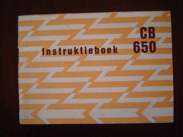 HONDA CB650  1979  instructie boek CB 650