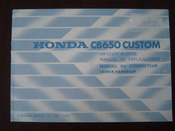 HONDA CB 650 Custom 1979 owner 's manual   CB650