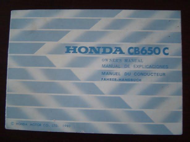 HONDA CB650C 1980 owner 's manual CB 650 C  fahrer handbuch