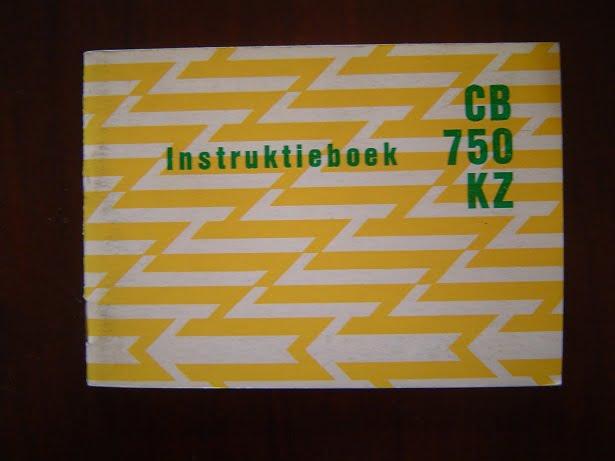 HONDA CB 750 KZ  instructie boekje CB750 KZ  1979 ?