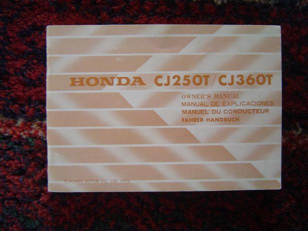 HONDA CJ 250 T  / CJ 360 T 1976 owners manual  CJ250T  CJ360T