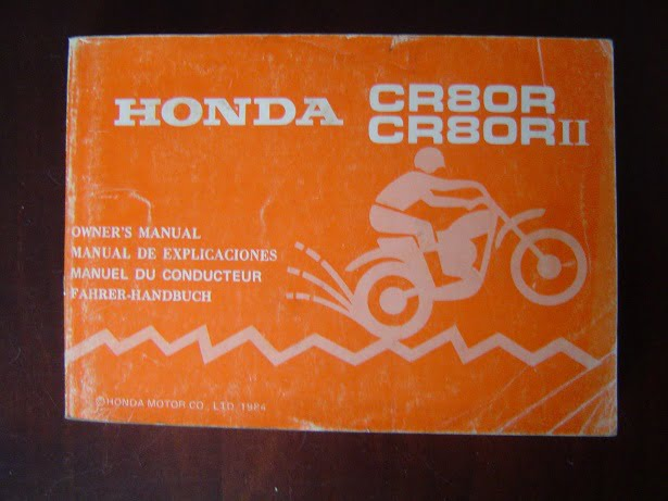 HONDA CR80R 1984 owner 's manual  CR 80 R