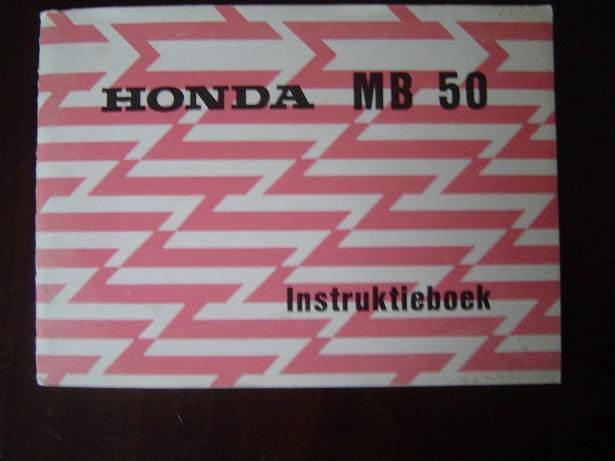 HONDA MB 50  1980 instruktie boekje   MB50