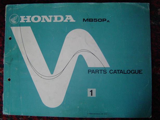 HONDA MB 50P MB50P 1979 parts catalogue  onderdelen boek