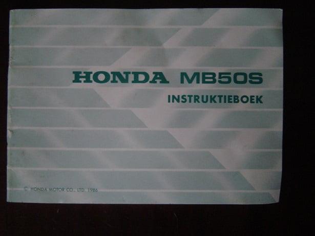 HONDA MB50S 1986 instructie boekje MB 50 S