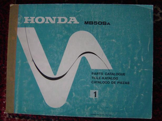 HONDA MB50Sa  MB 50 Sa 1979 parts catalogue