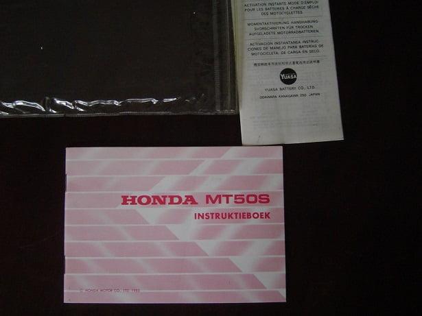 HONDA MT50 S 1985 instruktie boekje MT 50 S