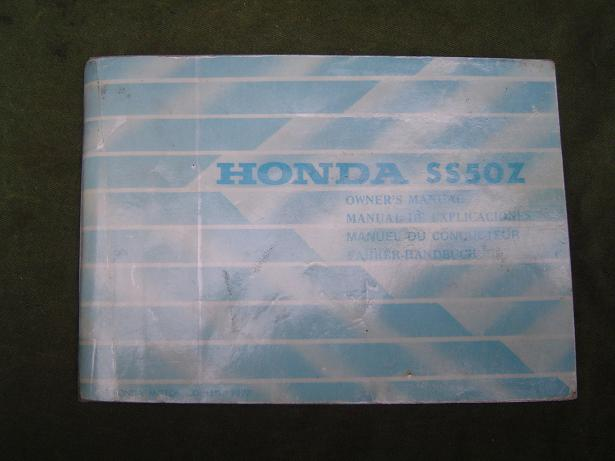 HONDA SS 50 1977 owner's manual