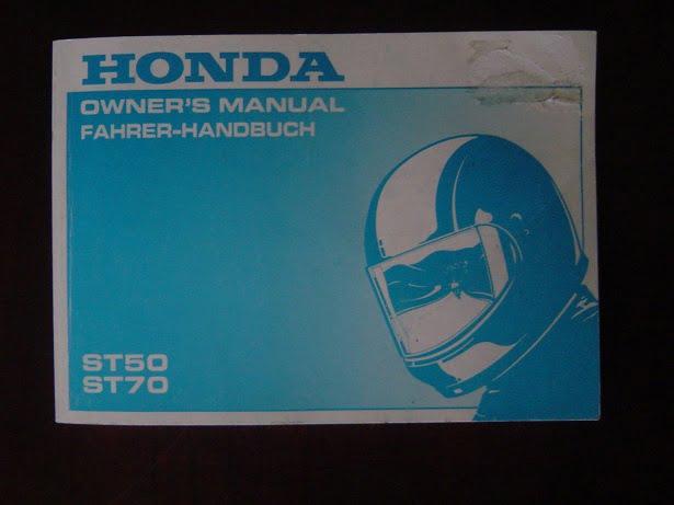 Honda Dax ST 50 ST 70 Fahrer Handbuch Bedienungsanleitung ...
