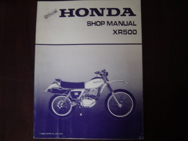 HONDA  XR500   1979 shop manual   XR 500