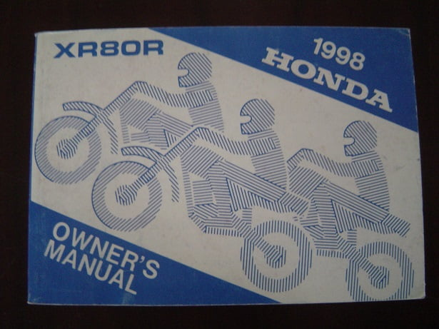 HONDA XR80R 1998 owner 's manual XR 80 R manuel du conducteur