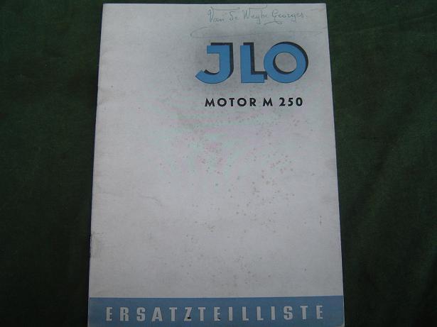 ILO M 250  viergang motor  1952 ? ersatzteilliste