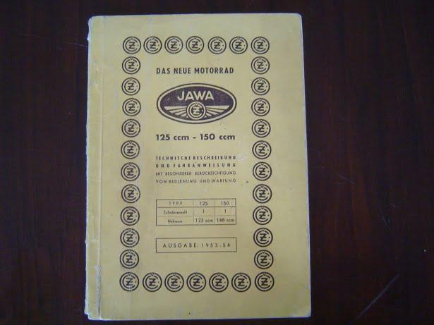JAWA  Cz motorrad 125 cc 150 cc 1953/54  bediening und wartung