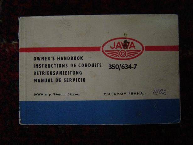 JAWA 350 / 634-7 owner's handbook 1982 ?