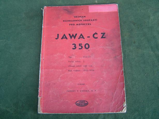 JAWA / CZ  350 1959 type 354/03 hongaarse ?? onderdelen catalogus