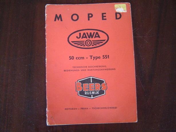 JAWA type 551 1960 bedienungs anleitung 50 cc moped