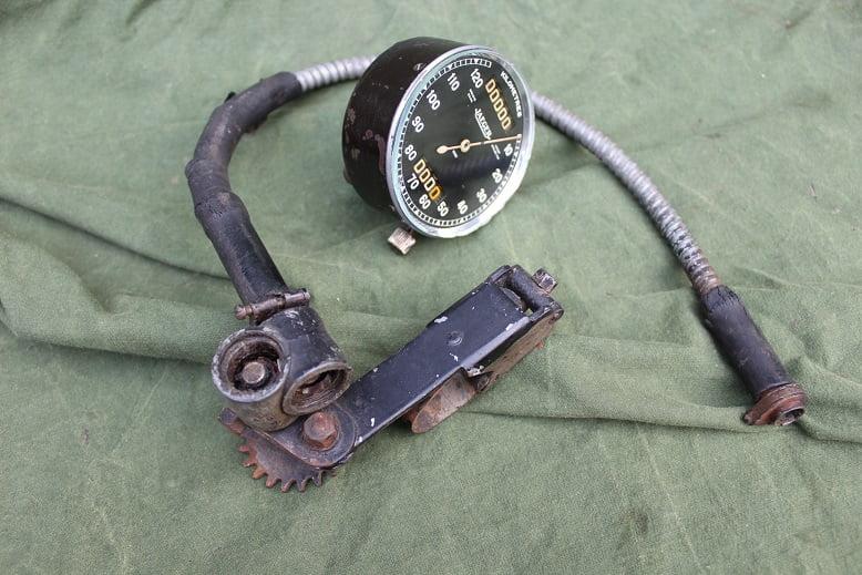 JAEGER 120 km pre war motorcycle speedometer kilometer teller SOLD