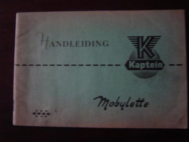 KAPTEIN MOBYLETTE 1963 handleiding